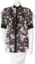 Givenchy Floral Print Silk Top