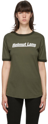 Helmut Lang Green Retro Rib Base Layer T-Shirt