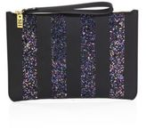 Sophie Hulme Talbot Striped Glitter & Leather Pouch