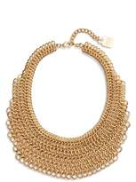 Adia Kibur Women's Linked Circle Statement Bib Necklace