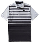 Nike Short-Sleeve Mobility Fade Horizontal-Stripe Polo Shirt