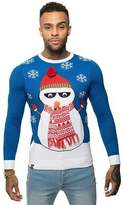 Loyalty And Faith Mens Christmas Jumper Novelty Knitted Snowman 3D Xmas Sweater