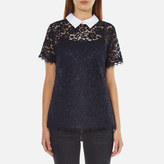MICHAEL Michael Kors Women's Collared Lace TShirt - New Navy