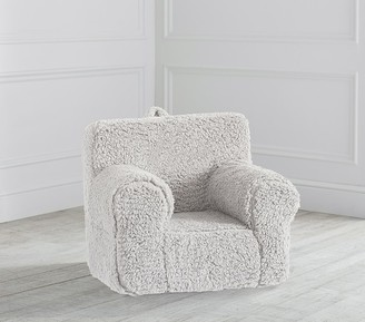 Pottery Barn Kids My First Gray Cozy Sherpa Anywhere Chair