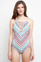 Hobie Do or Tie Dye Strappy One Piece Swimsuit