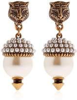Gucci Imitation Pearl Clip-On Earrings