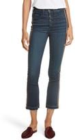 Veronica Beard Women's Carolyn Tuxedo Stripe Baby Boot Crop Jeans