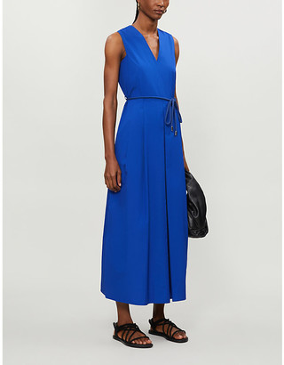 Max Mara Sleeveless cotton-poplin maxi dress