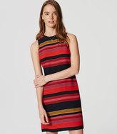 LOFT Striped Flare Dress