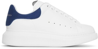 Alexander McQueen White and blue classic sneakers