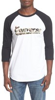 Converse Camo Script Logo Baseball T-Shirt