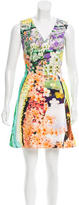Mary Katrantzou Floral Digital Print Belted Dress