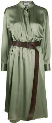 Brunello Cucinelli Wrap Style Shirt Dress