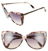 Tom Ford Women's Reveka 59Mm Gradient Cat Eye Sunglasess - Black/ Rose Gold/ Silver Flash