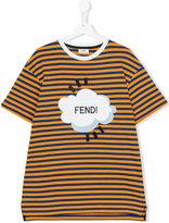 Fendi striped T-shirt - kids - Cotton - 14 yrs