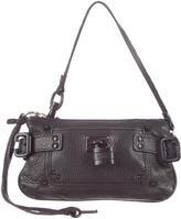 Chloé Oversize Leather Buckle Clutch