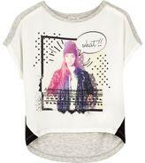 River Island Mini girls white star girl T-shirt