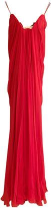 Alexander McQueen Red Silk Dresses