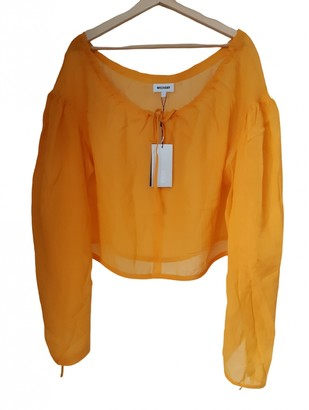 Weekday Orange Silk Top for Women