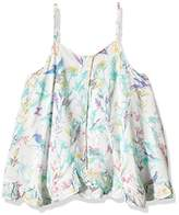 3 Pommes 3Pommes Girl's Licorne Girl Floral Tank Top