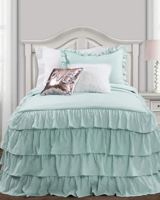 Lush Decor Two-Piece Ella Shabby Chic Ruffle Twin XL Comforter Set