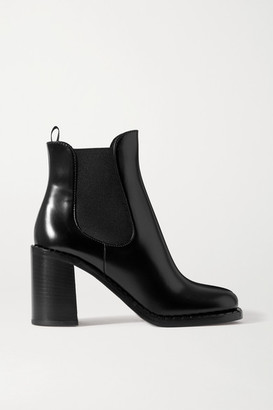 Prada 85 Glossed-leather Chelsea Boots - Black