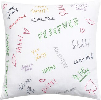 Kate Spade Embroidered Graffiti Accent Pillow