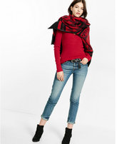 Express fitted v-neck sweater