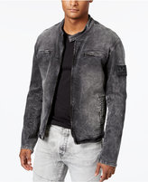 True Religion Men's Denim Moto Jacket