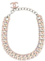 Chanel Iridescent Curb Chain Necklace