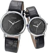 AUTULET Classic Men's Quartz Watch Business Leather Couple Watch With London Bridge (Two Pieces One Pack )