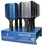 Spornette VB-D Ventura The Blow-Out 6 Piece Hair Brush Salon Display From ProHairTools + Free YS Park L-Clips ($13 value).