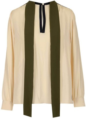 Marni Long Sleeved Button Detailed Blouse