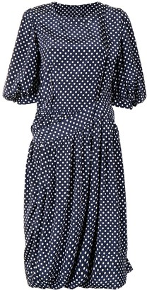 Comme des Garçons Comme des Garçons Oversize Draped Polka Dot Dress