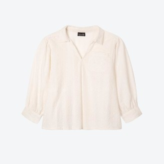 Lowie Broderie Poets Blouse - S