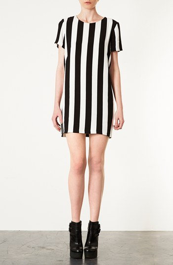 Topshop Stripe Shift Dress