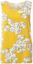 Vila **Vila Yellow Floral Print Shell Top