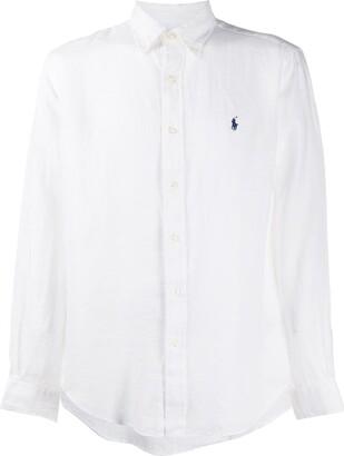 Polo Ralph Lauren Linen Logo Embroidered Shirt