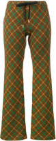 Marni tartan flared trousers