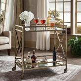 HomeSullivan Allie Antique Brass Bar Cart
