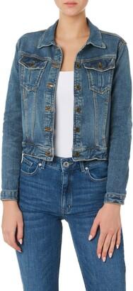 Outland Denim Harper Organic Stretch Cotton Crop Denim Jacket