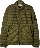 Stone Island Olive Quilted Shell Jacket