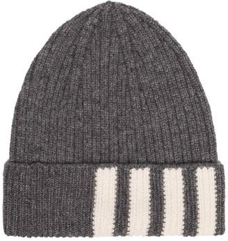 Thom Browne 4-Bar intarsia-knit beanie