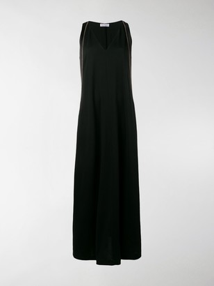 Brunello Cucinelli Contrast Side Maxi Dress
