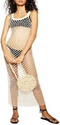 Topshop Crochet Cover-Up Dress