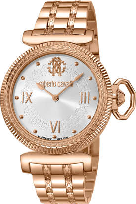 Roberto Cavalli By Franck Muller 38mm Classic Bracelet Watch, Rose Gold
