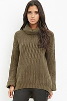 Forever 21 Waffle Knit Turtleneck Sweater
