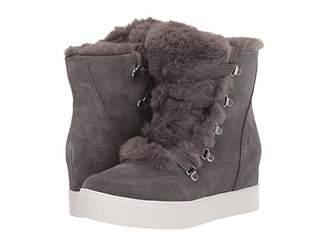 Steve Madden Wharton Wedge Sneaker (Grey Suede) Women's Shoes