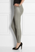 J Brand Stretch-leather leggings-style pants