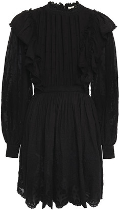 Ulla Johnson Dorithie Ruffled Broderie Anglaise Cotton Mini Dress